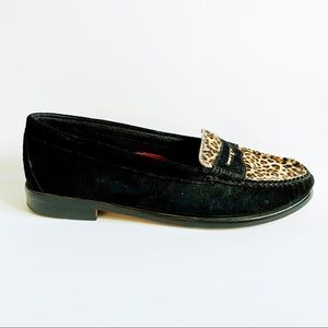 Weejuns GH Bass Co Loafer Cheetah Calf Hair 7.5